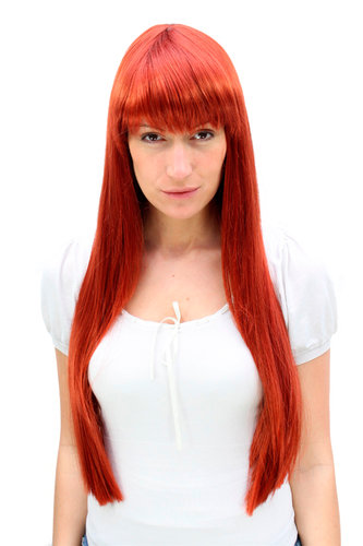 TEMPTRESS stunning LONG sinful sexy RED Lady Wig Fringe 3227-135 60 cm Mistress Roleplay Cosplay
