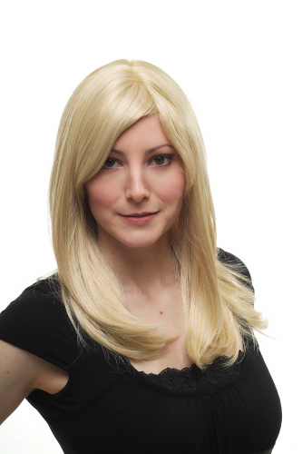 VERY CHIC Lady Quality Wig bright BLOND blonde STRAIGHT 3120-611 50 cm Peluca Parrucca