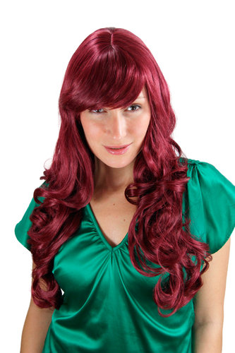 STUNNING Lady Fashion Quality Wig RED great volume slight curls 285-39 60 cm Peluca