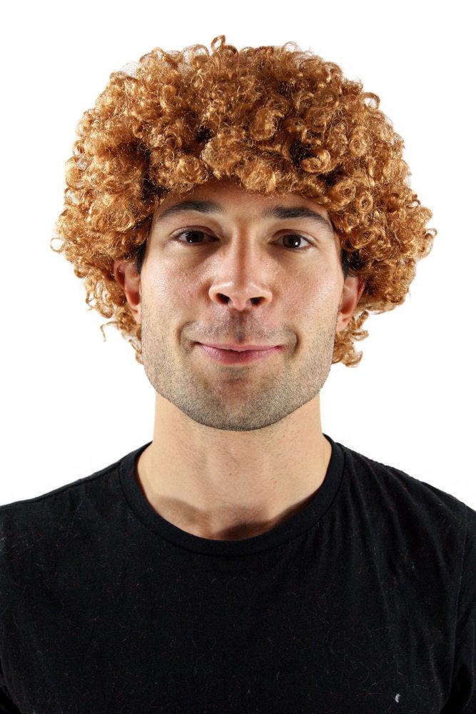 Party Fancy Dress Halloween AFRO style curly WIG (man woman unisex) light  brown dark blond retro 1520986f3db3
