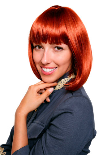 Lady Fashion Quality BOB Page Wig Short ruby RED 7803-135 Parrucca Peluca