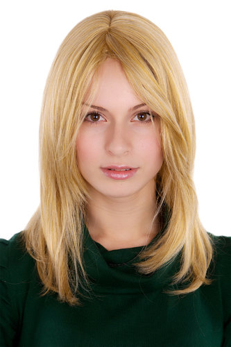 NAUGHTY Lady Quality Wig medium BLOND blonde STRAIGHT 3240-24 35 cm Peluca Parrucca