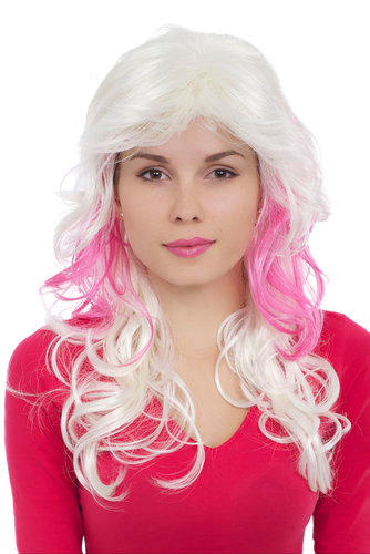 Perücke, blond, pink, Locken, GFW1113-G5