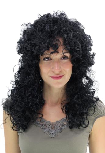 Lockiges schwarzes Haar Latina