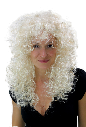 Party/Fancy Dress WIG seductive ANGELIC angelic style curly kinky AMAZING VOLUME BLOND platinum