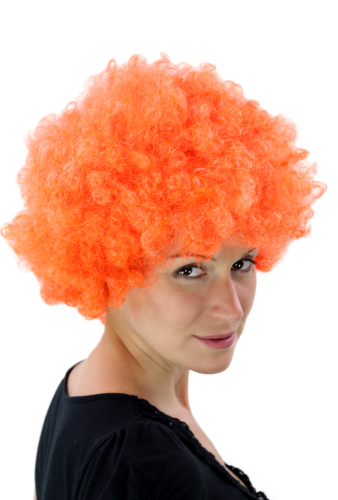 Afro Perücke Orange Disco PW0011-PC24