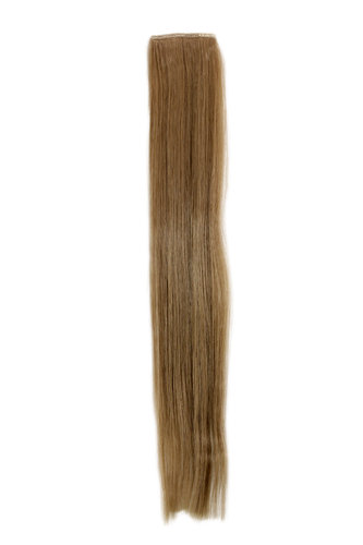 1 x Two Clip Clip-In extension strand straight 3,5 inch wide, 18 inches long dark ash blond