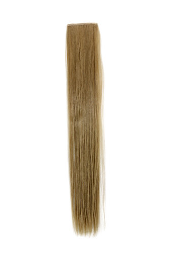 1 x Two Clip Clip-In extension strand straight 3,5 inch wide, 18 inches long light ash blond