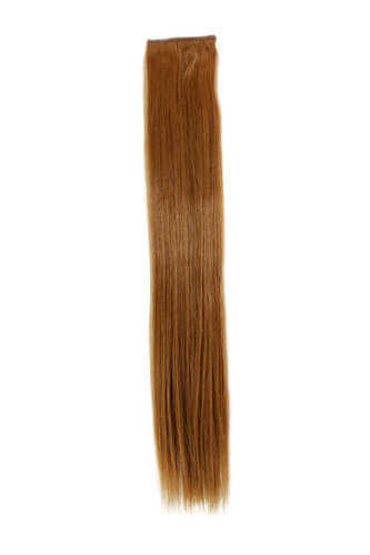1 x Two Clip Clip-In extension strand straight 3,5 inch wide, 18 inches long strawberry blond