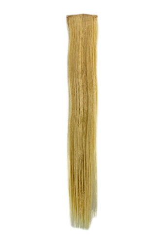 1 x Two Clip Clip-In extension strand highlight straight 3,5 inch wide 18 inches long bright blond