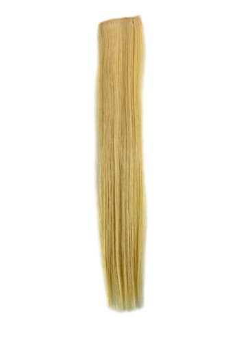 1 x Two Clip Clip-In extension strand straight 3,5 inch wide, 18 inches long platinum blond
