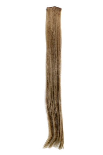1 x Two Clip Clip-In extension strand straight 3,5 inch wide, 25 inches long dark ash blond