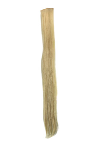 1 x Two Clip Clip-In extension strand straight 3,5 inch wide, 25 inches long platinum blond