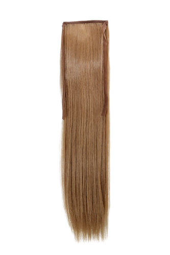 YZF-TS18-18 Hairpiece Pontail Pigtail extension slim light straight comb and ribbon dark blond 18""