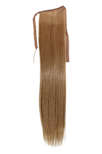 Hairpiece Pontail Pigtail extension slim light straight comb and ribbon medium blond 18""