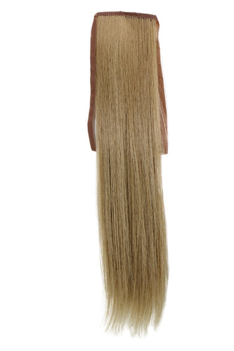 Hairpiece Pontail Pigtail extension slim light straight comb and ribbon light ash blond 18""