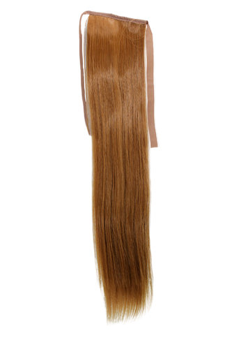 Hairpiece Pontail Pigtail extension slim light straight comb and ribbon strawberry blond 18""