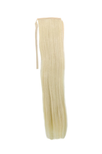 YZF-TS18-88 Hairpiece Pontail Pigtail extension slim light straight comb and ribbon bright blond