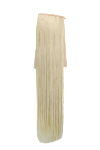 YZF-TS18-613 Hairpiece Pontail Pigtail extension slim light straight comb and ribbon platinum blond