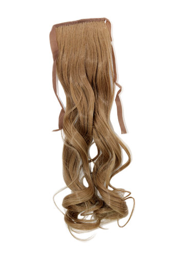 YZF-TC18-22 Hairpiece Pontail Pigtail extension slim light wavy comb and ribbon medium blond 18""