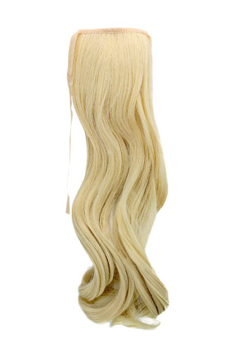 YZF-TC18-613 Hairpiece Pontail Pigtail extension slim light wavy comb and ribbon platinum blond