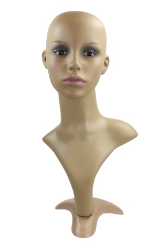 Female decoration head, wig stand, heavy make up PT3