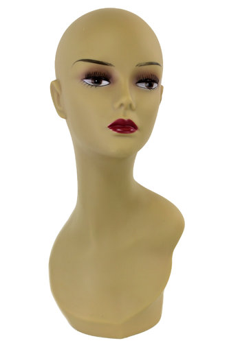 Decoration head, wig hold, natural teint PQ5