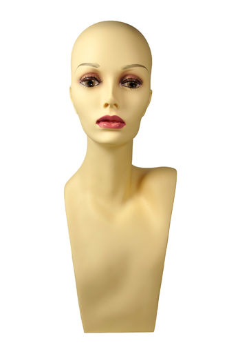 Decoration head, wig hold, bust, female PDHA