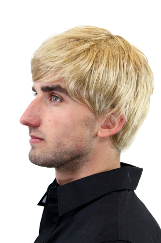 Men's WIG (for Men or Unisex) HIGH QUALITY synthetic short MEDIUM BLOND youthful young