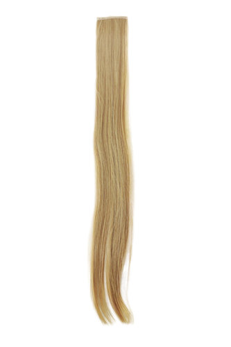 1 x Two Clip Clip-In extension strand highlight straight 3,5 inch wide, 25 inches long blond