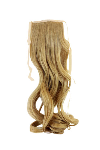 YZF-TC18-86 Hairpiece Pontail Pigtail extension slim light wavy comb and ribbon blond