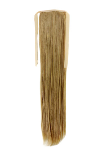 YZF-TS18-86 Hairpiece Pontail Pigtail extension slim light straight comb and ribbon blond