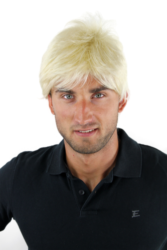 Men's WIG (for Men or Unisex) HIGH QUALITY synthetic short BRIGHT BLOND blonde youthful young look
