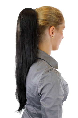 Hairpiece PONYTAIL extension VERY long AMAZING volume DARK BROWN straight WK06-3