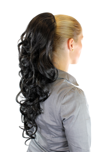 Hairpiece PONYTAIL extension LONG & AMAZING volume BLACK curly BEAUTIFUL curls WK03-2