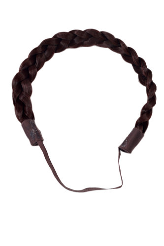 Hair Piece Hairband Circlet Alice band HIGH QUALITY synthetic fiber braided braid BROWN red