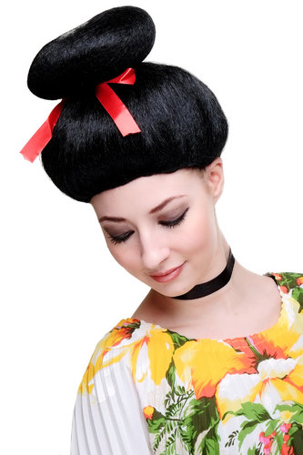 Party/Fancy Dress/Halloween Lady WIG black Geisha Japan Asian Mistress 2120-P103