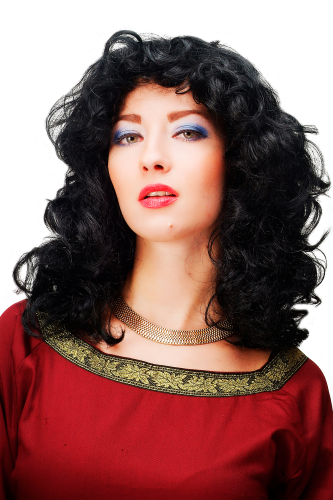 Party/Fancy Dress Lady WIG bleack long curls LATIN BEAUTY medieval COSPLAY Anime Gothic Lolita