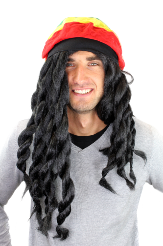Party/Fancy Dress/Halloween WIG & hat RASTAFARI reggae black long braids rasta braided 68901-P103