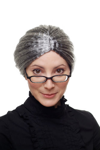 Party/Fancy Dress/Halloween WIG grey Grandmother Granny Boarding School Mistress 69020-P103-68