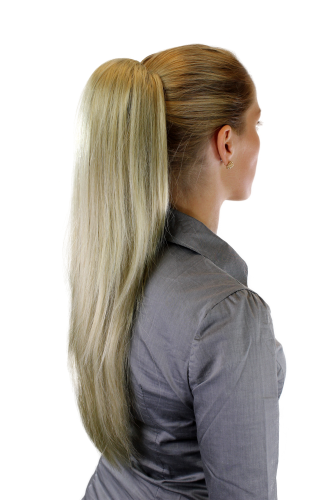 Hairpiece PONYTAIL extension VERY long AMAZING volume BLOND straight WK06-234