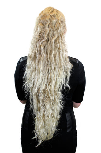 Mega Zopf, superlang, voluminös, Blond Platin Mix N838-15BT613