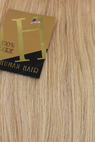 Echthaar Extensions Set 100x1g Blond 18HH-1G-24
