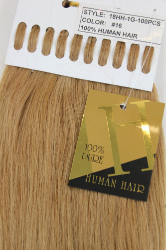 Echthaar Extensions Set 100x1g Blond 18HH-1G-16