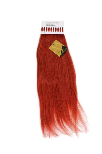 18HH-1G-350 Set 100 Gramm (100 x 1 Gramm) 100% Human Hair Extensions I-Tips Bondings long red 18""