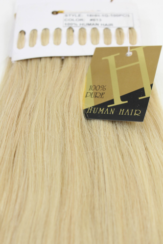 Echthaar Extensions Set 100x1g Blond 18HH-1G-613