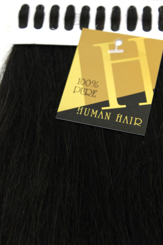 Set 100 Gramm (100 x 1 Gramm) 100% Human Hair Extensions I-Tips Bondings long dark brown 18""