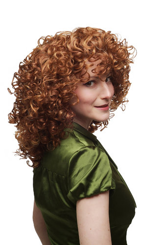 Incredible Curls and Volume! Lady Quality Wig red blonde mixed curly SA042-350/144