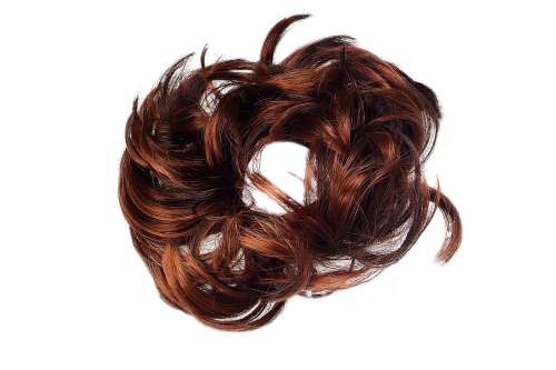 FQ-3075-8H12 Scrunchy Hair Piece hair band voluminous wild curled streaked brown mix highlights