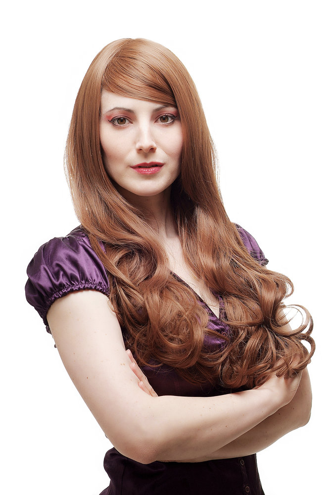 Lady Quality Wig Long Straight With Curling Dlightlx Curled Wavy